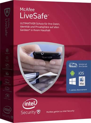 McAfee LiveSafe 2016 Unlimited Devices Vollversion, unbegrenzte Geräteanzahl Windows, Mac, iOS, Android Antivirus