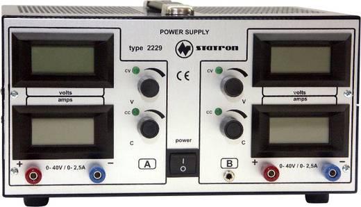 Labornetzgerät, einstellbar Statron 2229.2 0 - 40 V 0 - 2.5 A 200 W Anzahl Ausgänge 2 x