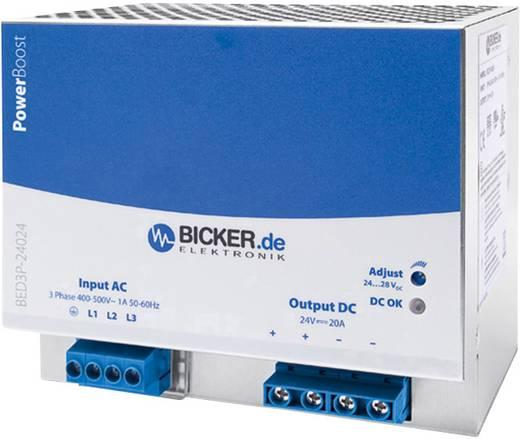 Bicker Elektronik BED3P-48024 Hutschienen-Netzteil (DIN-Rail) 24 V/DC 20 A 480 W 3 x