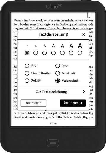 eBook-Reader 15.2 cm (6 Zoll) Tolino Shine 2 HD Schwarz