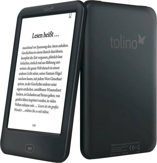 ebook reader 15 2 cm 6 zoll tolino shine 2 hd schwarz kaufen. Black Bedroom Furniture Sets. Home Design Ideas