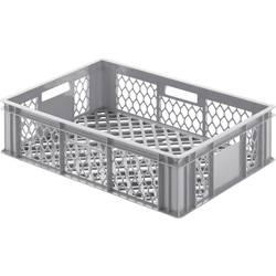 Mriežkovaná plastová nádoba Alutec 05055, 33 l, (d x š x v) 400 x 600 x 170 mm, sivá