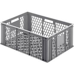 Mriežkovaná plastová nádoba Alutec 05065, 49 l, (d x š x v) 400 x 600 x 250 mm, sivá