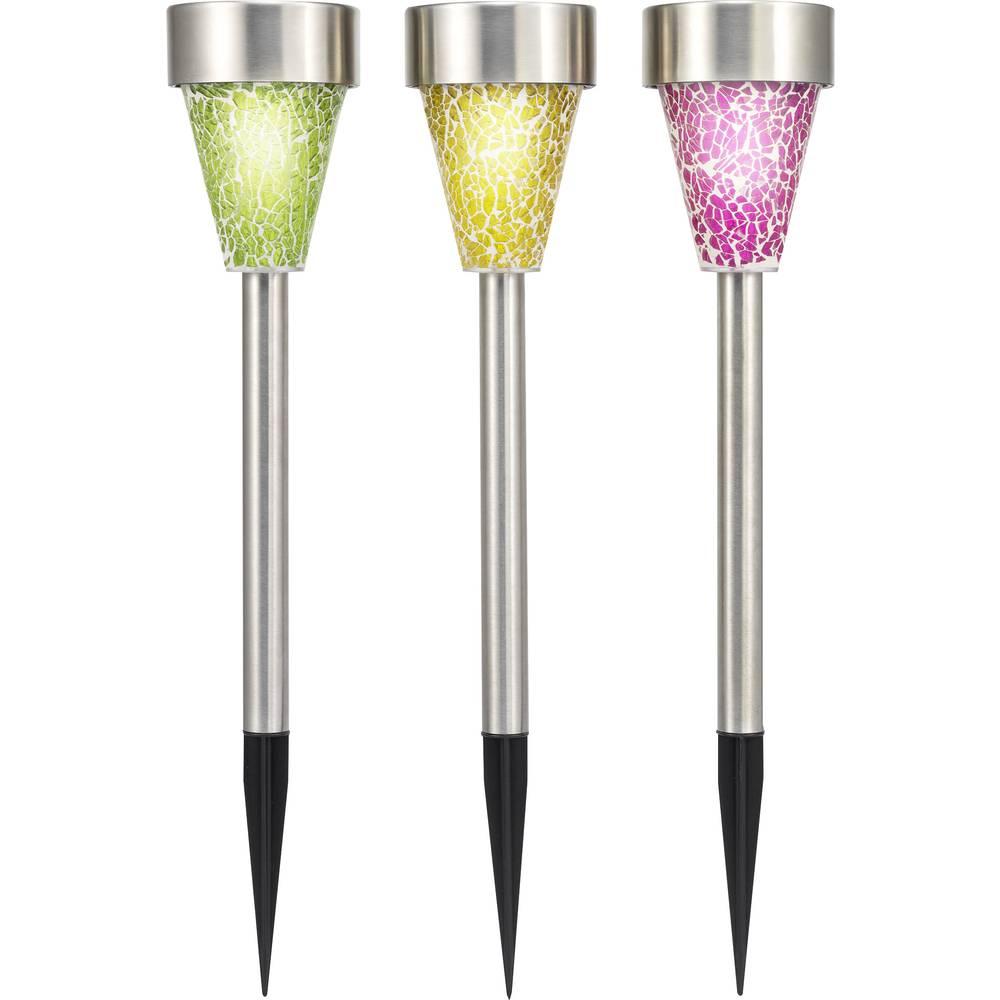 Lampe de jardin solaire renkforce mosaik ampoule led set for Ampoule led jardin