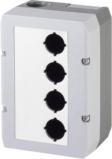 Leergehäuse (L x B x H) 100 x 145 x 74 mm Ohne Grau Schlegel DIRL4V-R16 1 St.