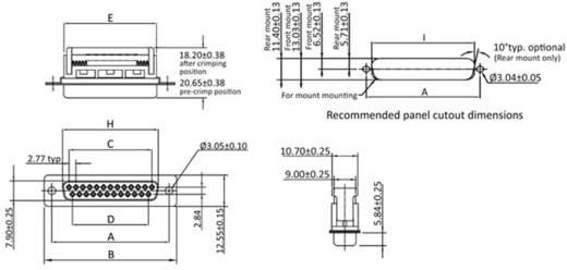 D-SUB Buchsenleiste 90 ° Polzahl: 25 Schneid-Klemm econ connect BU25SK/FOZ 1 St.