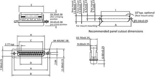 D-SUB Buchsenleiste 90 ° Polzahl: 25 Schneid-Klemm econ connect BU25SK/FGOZ 1 St.