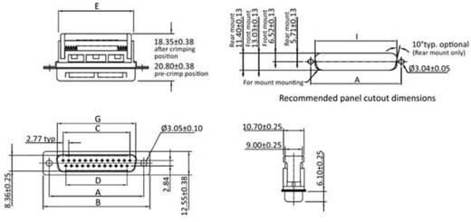 D-SUB Stiftleiste 90 ° Polzahl: 25 Schneid-Klemm econ connect ST25SK/FOZ 1 St.