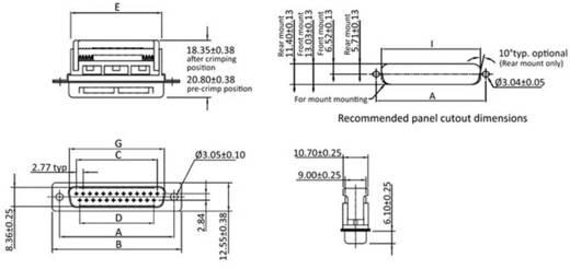 D-SUB Stiftleiste 90 ° Polzahl: 15 Schneid-Klemm econ connect ST15SK/FOZ 1 St.
