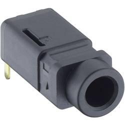 Jack konektor 3.5 mm stereo zásuvka, vstavateľná horizontálna Lumberg 1503 16, pinov 4, čierna, 1 ks