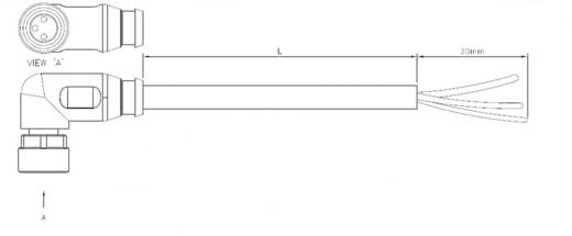 TE Connectivity 1-2273009-1 Sensor-/Aktor-Steckverbinder, konfektioniert M8 Buchse, gewinkelt 1.50 m Polzahl: 3 1 St.