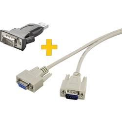 USB / sériový prepojovací kábel USB 2.0, sériový Renkforce RF-4202085 1.00 m, čierna