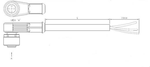 TE Connectivity 1-2273012-3 Sensor-/Aktor-Steckverbinder, konfektioniert M8 Buchse, gewinkelt 5 m Polzahl: 3 1 St.