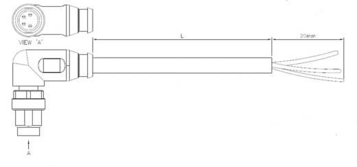 Sensor-/Aktor-Steckverbinder, konfektioniert M8 Stecker, gewinkelt 5 m Polzahl: 4 TE Connectivity 2273010-3 1 St.