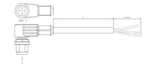Sensor-/Aktor-Steckverbinder, konfektioniert M12 Buchse, gerade 5 m Polzahl: 5 TE Connectivity 1-2273047-3 1 St.