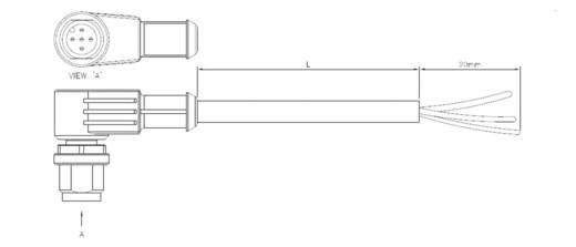 TE Connectivity 1-2273047-3 Sensor-/Aktor-Steckverbinder, konfektioniert M12 Buchse, gerade 5 m Polzahl: 5 1 St.