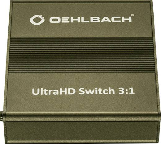 Oehlbach UltraHD Switch 3:1 3 Port HDMI-Switch mit Fernbedienung 4096 x 2160 Pixel