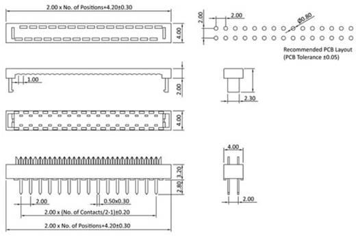 Federleiste LPV2S26 Gesamtpolzahl 26 Anzahl Reihen 2 econ connect 1 St.
