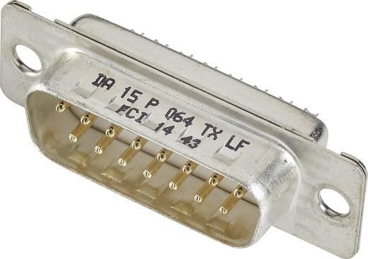 D-SUB Stiftleiste 180 ° Polzahl: 15 Lötkelch FCI D-SUB 1 St.