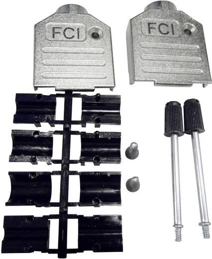 D-SUB Gehäuse Polzahl: 9 Zinkdruckguss 180 ° Silber FCI D-SUB 1 St.