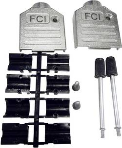 Capot SUB-D 25 pôles FCI 8655MH2501BKLF zinc moulé sous pression 180 ° argent 1 pc(s)