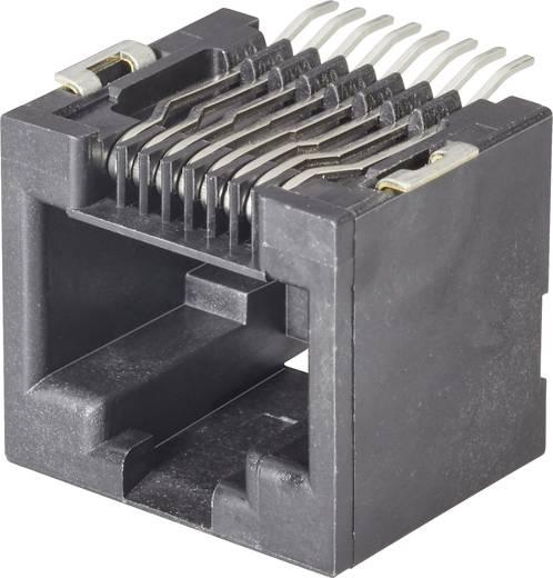 RJ45-Einbaubuchse Buchse, Einbau horizontal Pole: 8P8C Modular jacks Schwarz FCI 73304-111LF 1 St.