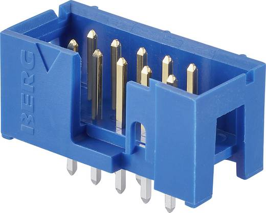 FCI Pfosten-Steckverbinder Rastermaß: 2.54 mm Polzahl Gesamt: 14 Anzahl Reihen: 2 1 St.