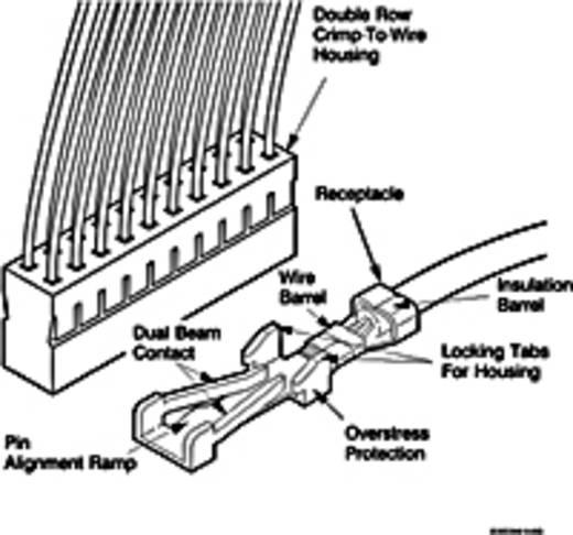 FCI Pfosten-Steckverbinder Rastermaß: 2 mm Polzahl Gesamt: 4 Anzahl Reihen: 1 1 St.