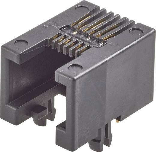 RJ12-Einbaubuchse Buchse, Einbau horizontal Pole: 6P6C Modular jacks Schwarz FCI 87180-066LF 1 St.