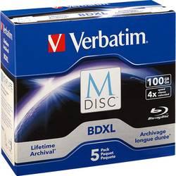 M-DISC Blu-ray XL 100 GB Verbatim Jewelcase, 98913, 5 ks