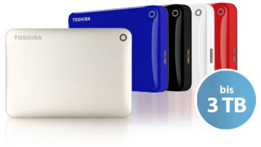Externe Festplatte 6.35 cm (2.5 Zoll) 1 TB Toshiba Canvio Connect II Schwarz USB 3.0