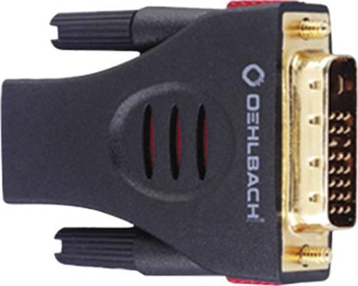 Oehlbach DVI / HDMI Adapter [1x DVI-Stecker 18+1pol. - 1x HDMI-Buchse] Schwarz vergoldete Steckkontakte