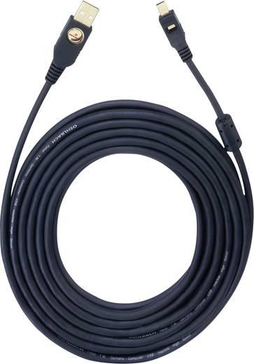 Oehlbach USB 2.0 Anschlusskabel [1x USB 2.0 Stecker A - 1x USB 2.0 Stecker Mini-B] 10 m Schwarz vergoldete Steckkontakte