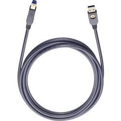 USB 3.0 prepojovací kábel Oehlbach USB MAX A/B 9221, 3 m, čierna