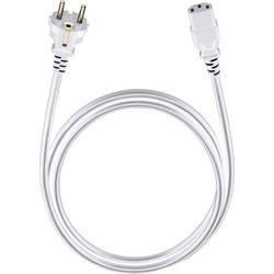 Napájací prepojovací kábel Oehlbach 17044, [1x DE schuko zástrčka - 1x IEC C13 zásuvka 10 A], 3.00 m, biela