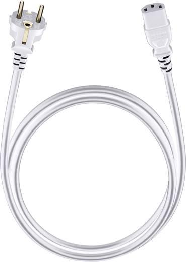 Anschlusskabel [1x Schutzkontakt-Stecker - 1x Kaltgeräte-Buchse C13] 5 m Weiß Oehlbach Powercord C 13