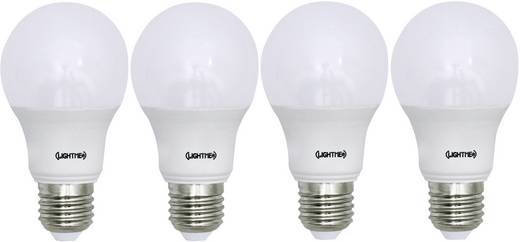 LightMe LED E27 Glühlampenform 8.5 W = 60 W Warmweiß (Ø x L) 60 mm x 110 mm EEK: A+ 4 St.