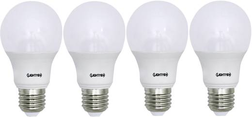 LightMe LED EEK A+ (A++ - E) E27 Glühlampenform 8.5 W = 60 W Warmweiß (Ø x L) 60 mm x 110 mm 4 St.