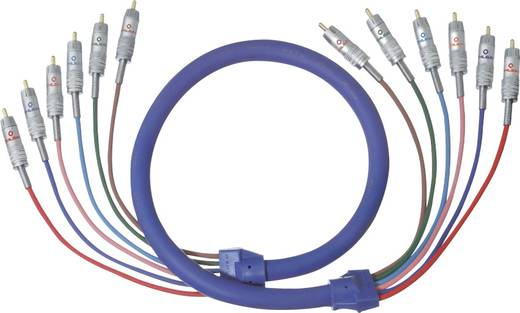 Cinch Audio Anschlusskabel [6x Cinch-Stecker - 6x Cinch-Stecker] 1.50 m Blau vergoldete Steckkontakte Oehlbach BLUE MAGI