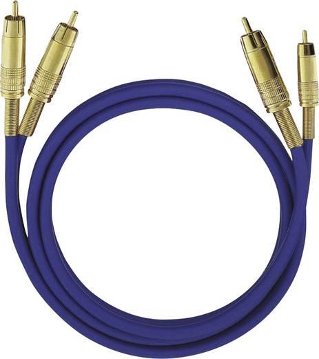 Cinch Audio Anschlusskabel [2x Cinch-Stecker - 2x Cinch-Stecker] 1 m Blau vergoldete Steckkontakte Oehlbach NF 1 Master