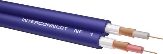 Cinch Audio Anschlusskabel [2x Cinch-Stecker - 2x Cinch-Stecker] 1 m Weiß vergoldete Steckkontakte Oehlbach NF 1 Master