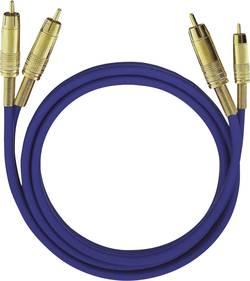 Cinch audio kabel Oehlbach 2036, 3 m, modrá