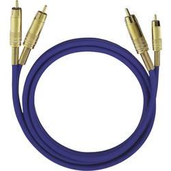 Cinch audio prepojovací kábel Oehlbach 2036, 3 m, modrá