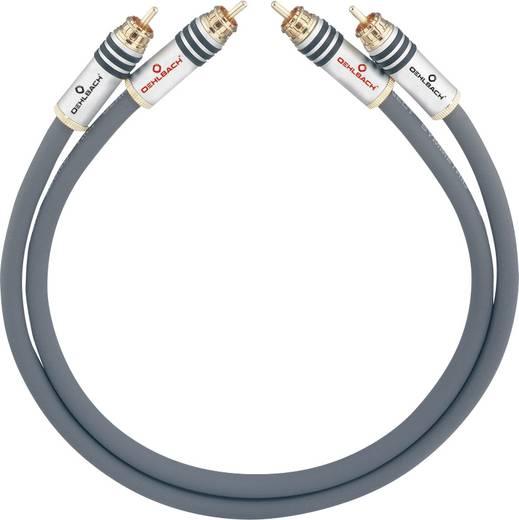 Cinch Audio Anschlusskabel [2x Cinch-Stecker - 2x Cinch-Stecker] 4 m Anthrazit vergoldete Steckkontakte Oehlbach NF 14 M