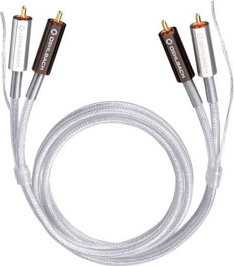 Cinch Audio Anschlusskabel [2x Cinch-Stecker - 2x Cinch-Stecker] 0.50 m Transparent vergoldete Steckkontakte Oehlbach Si