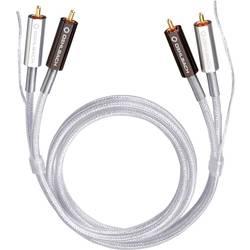 Cinch audio prepojovací kábel Oehlbach 2601, 1 m, priehľadná