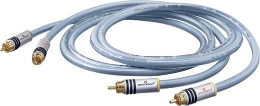 Cinch Audio Anschlusskabel [2x Cinch-Stecker - 2x Cinch-Stecker] 1 m Blau vergoldete Steckkontakte Oehlbach XXL-serie 2