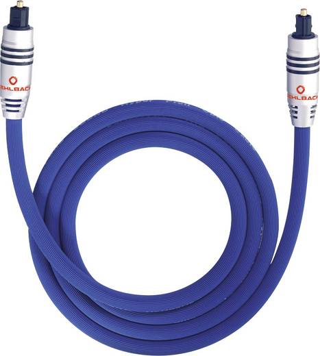 Toslink Digital-Audio Anschlusskabel [1x Toslink-Stecker (ODT) - 1x Toslink-Stecker (ODT)] 10 m Blau Oehlbach XXL® Serie