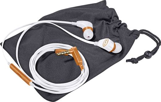 Magnat 540 Kopfhörer In Ear Headset, Noise Cancelling Weiß, Orange