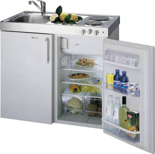 130 l bauknecht mkv 1118-lh miniküche eek: a+ weiß - Miniküche Mit Kühlschrank